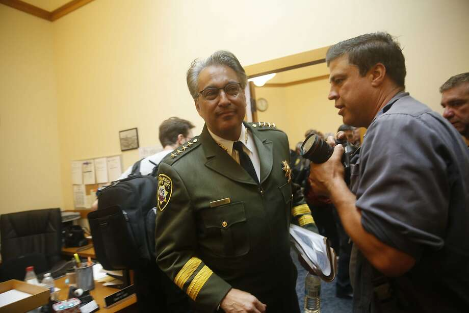 Sheriff Ross Mirkarimi leaves after speaking  at a press conference at San Francisco City Hall on Friday, July 10, 2015 in San Francisco, Calif. Photo: Lea Suzuki, The Chronicle