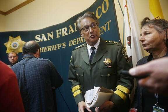 Sheriff Ross Mirkarimi answers a question from a member of the media after speaking at a press conference at San Francisco City Hall on Friday, July 10, 2015 in San Francisco, Calif.