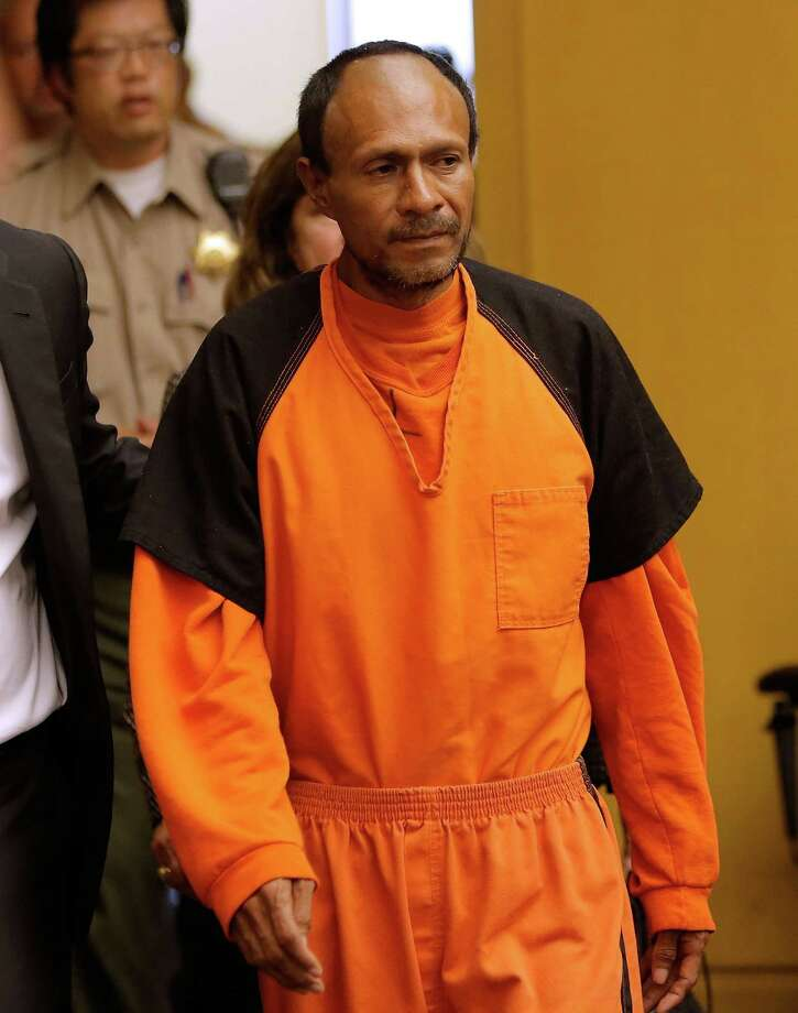 SAN FRANCISCO, CA - JULY 07:  Francisco Sanchez enters court for an arraignment on July 7, 2015 in San Francisco, California. Francisco Sanchez plead not guilty to charges that he shot and killed 32 year-old Kathryn Steinle as she walked on Pier 14 in San Francisco with her father last week. (Photo by Michael Macor-Pool/Getty Images) ORG XMIT: 563732439 Photo: Pool / 2015 Getty Images