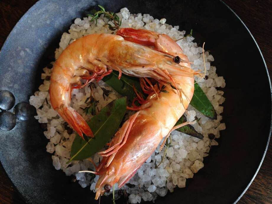 Salt roasted shrimp with bay leaf and thyme at Helen Greek Food and Wine, opening July 22 at 2429 Rice Blvd. (Photo: Greg Morago)