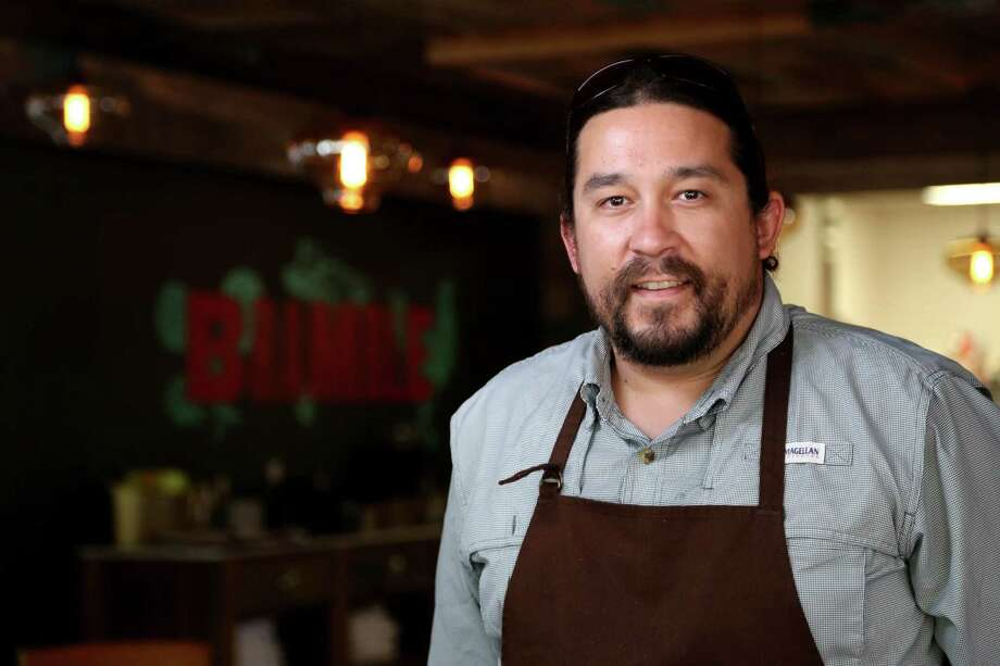 Chef Randy Rucker says he wants patrons to know they are in Houston when they take their first bite at Bramble. Photo: Gary Coronado, Staff / © 2015 Houston Chronicle