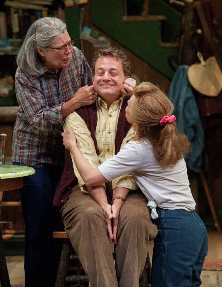 """Annalee Jefferies, from left,  Jeffrey Bean and Elizabeth Bunch star in the Alley Theatre's production of """"The Foreigner."""" Photo: John Everett / ONLINE_YES"""