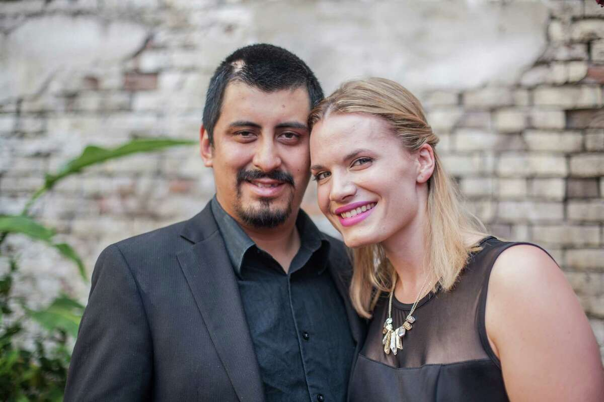 David Guerrero and his wife Gillian Givens pose for a portrait outside Batanga Restaurant Monday June 15, 2015. Guerrero had recently undergone suregery to remove a second brain tumor and a fundraiser was being held for him at the restaurant. (Michael Starghill, Jr.)