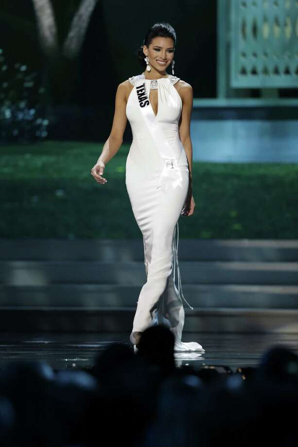 Miss Texas, Ylianna Guerra, competes in the evening gown competition during the preliminary round of the 2015 Miss USA Pageant in Baton Rouge, La., Wednesday, July 8, 2015. (AP Photo/Gerald Herbert) Photo: Gerald Herbert, STF / AP