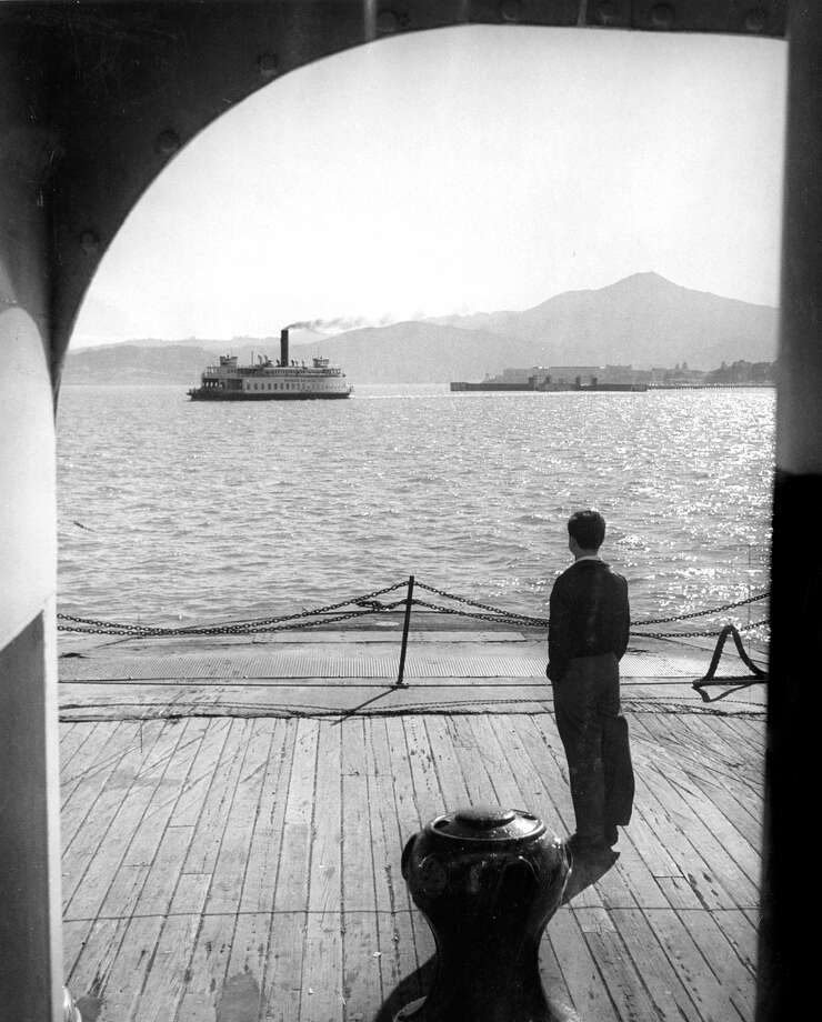 Ferryboats on San Francisco Bay making the Richmond to San Rafael run before the bridge took over from the ferries. / ONLINE_YES