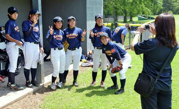 JapanOs Madonna Stars pose for a snapshot before the opening game of the Cooperstown WomenOs Baseball Classic against USA Baseball WomenOs National Team  Friday July 10, 2015 at SUNY in Cobleskill, NY.   (John Carl D'Annibale / Times Union) Photo: John Carl D'Annibale / 00032552A