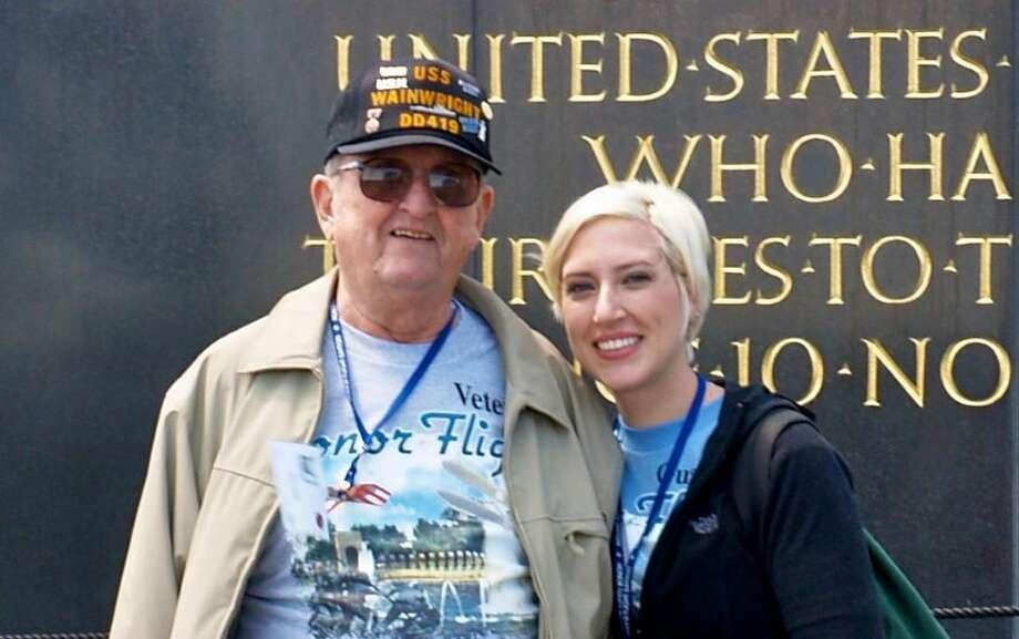 Daniel Kelly and Ashley French on their 2013 Honor Flight trip to Washington, D.C. Photo: Courtesy Ashley French