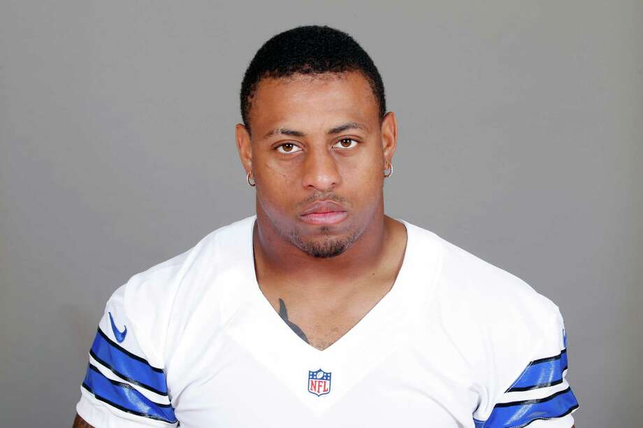 FILE - This is a 2015, file photo showing Greg Hardy of the Dallas Cowboys NFL football team. Dallas defensive end Greg Hardy's suspension for his role in a domestic violence case has been reduced from 10 games to four. NFL spokesman Brian McCarthy announced arbitrator Harold Henderson's decision Friday, July 10, 2015. (AP Photo/File) Photo: Uncredited, FRE / NFLPV AP