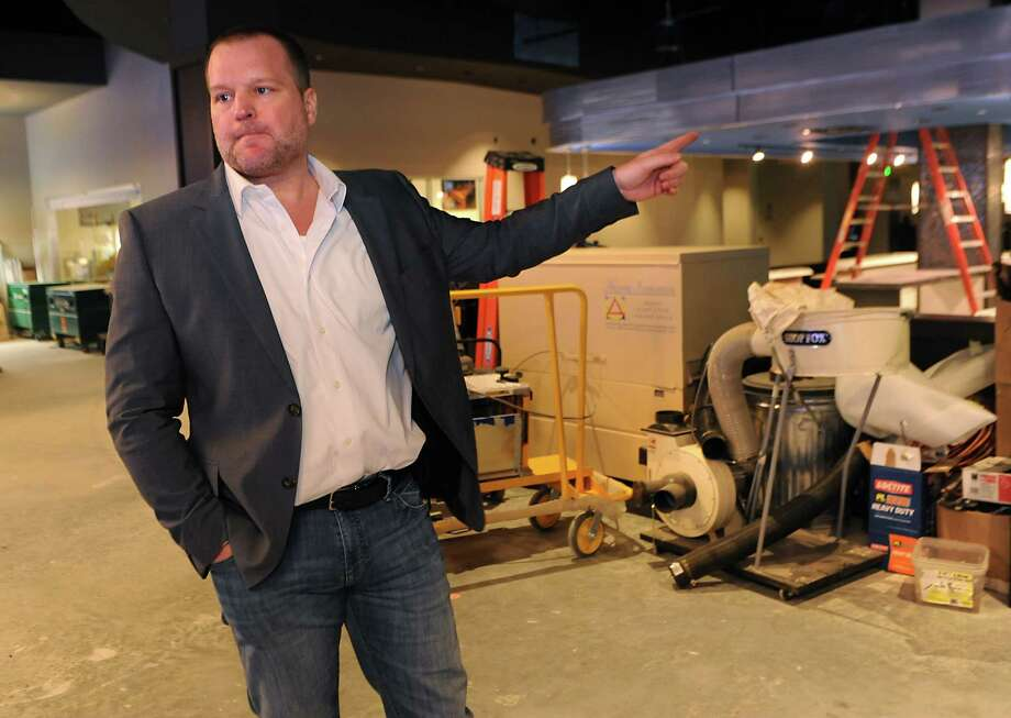 Brent Brown, the CEO of luxury bowling alley Latitude 360, talks about the progress of Latitude 360 in Crossgates Mall on Thursday, March 19, 2015 in Guilderland, N.Y. (Lori Van Buren / Times Union) ORG XMIT: MER2015071016580587 Photo: Lori Van Buren / 00031037A