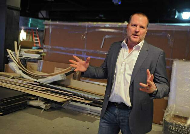 Brent Brown, the CEO of luxury bowling alley Latitude 360, talks about the progress of Latitude 360 in Crossgates Mall on Thursday, March 19, 2015 in Guilderland, N.Y. (Lori Van Buren / Times Union) ORG XMIT: MER2015071016584793 Photo: Lori Van Buren / 00031037A