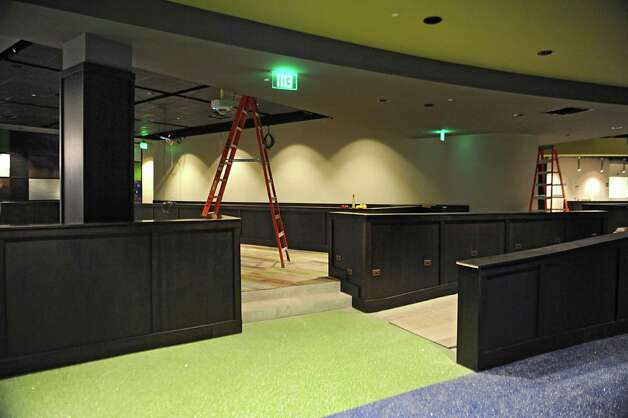 Area that will be the sports theater with screens at Latitude 360 in Crossgates Mall on Thursday, March 19, 2015 in Guilderland, N.Y. (Lori Van Buren / Times Union) ORG XMIT: MER2015071017000703 Photo: Lori Van Buren / 00031037A