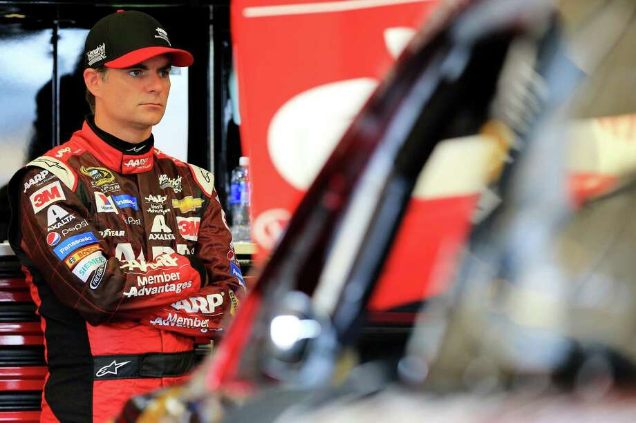 SPARTA, KY - JULY 10:  Jeff Gordon, driver of the #24 AARP Member Advantages Chevrolet, stands in the garage area during practice for the NASCAR Sprint Cup Series Quaker State 400 Presented by Advance Auto Parts at Kentucky Speedway on July 10, 2015 in Sparta, Kentucky.  (Photo by Daniel Shirey/Getty Images) ORG XMIT: 563781145 Photo: Daniel Shirey / 2015 Getty Images