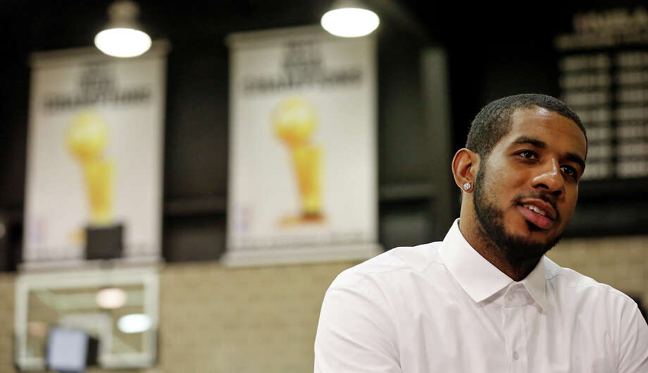 "On Friday the Spurs introduced newly signed LaMarcus Aldridge, a Dallas native who said: ""I'm excited to be here. I've always felt like this was home."" Photo: Edward A. Ornelas, Staff / © 2015 San Antonio Express-News"