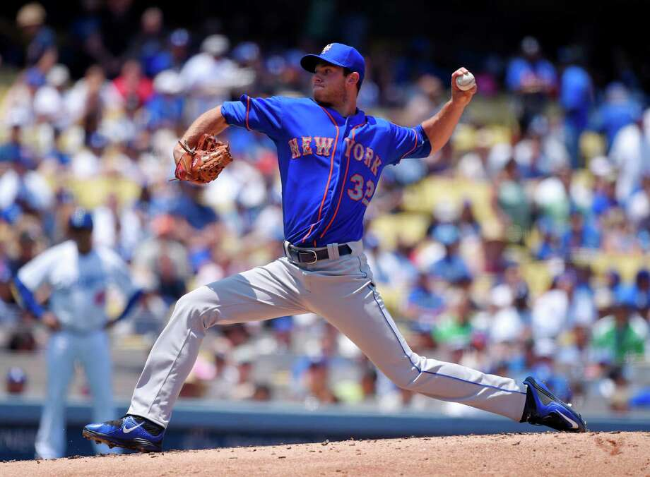 New York Mets starting pitcher Steven Matz throws to the plate during the first inning of a baseball game against the Los Angeles Dodgers, Sunday, July 5, 2015, in Los Angeles. (AP Photo/Mark J. Terrill)  ORG XMIT: LAD101 Photo: Mark J. Terrill / AP