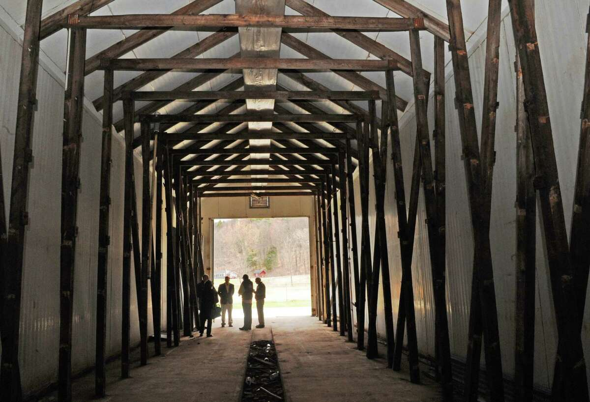One of the former mushroom barns that will be converted to grow marijuana during Compassionate Relief Centers of New York, Inc. Open House on Thursday April 23, 2015 in Jackson, N.Y. (Michael P. Farrell/Times Union)