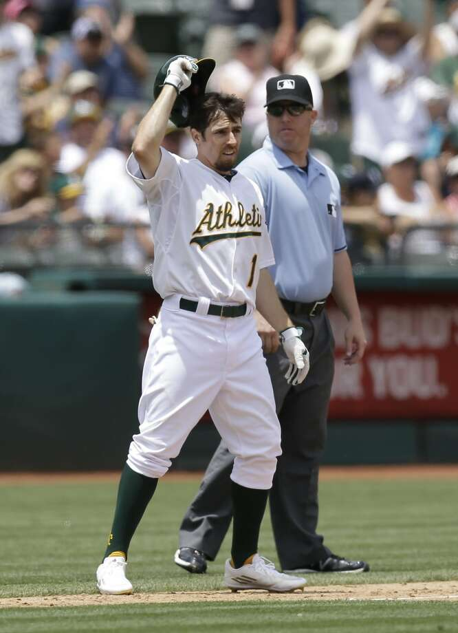 Oakland A's: Three hitsBilly Burns: With leadoff man Coco Crisp out indefinitely, Burns — who began training camp as a hopeful September call-up — hit .303 with 17 steals and 38 runs, putting him in Rookie of the Year contention. Photo: Ben Margot, Associated Press