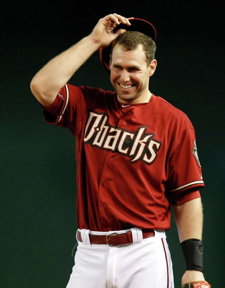 Texas State product Paul Goldschmidt  Arizona Diamondbacks first baseman Paul Goldschmidt in the first inning during a baseball game against the Colorado Rockies, Sunday, July 5, 2015, in Phoenix. (AP Photo/Rick Scuteri) Photo: Rick Scuteri / Associated Press / FR157181 AP
