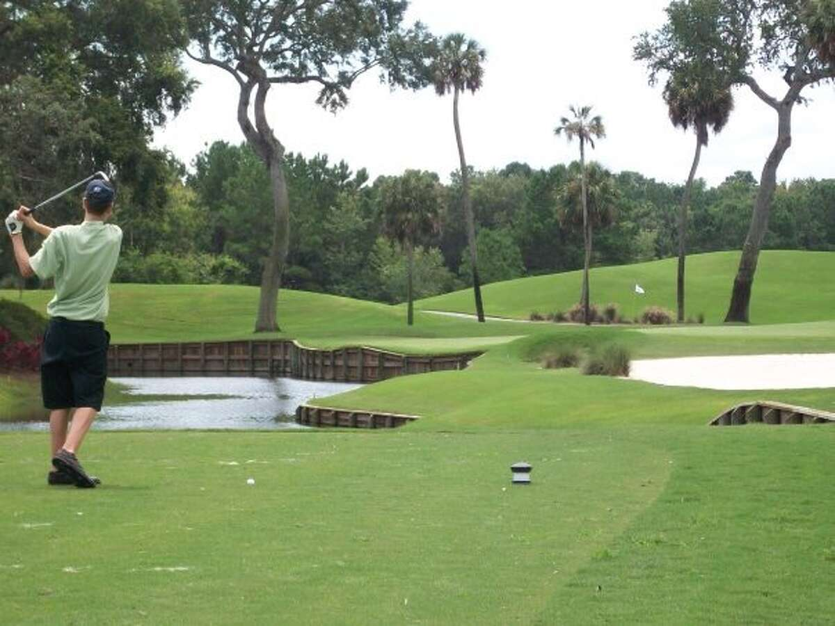 Joe Watroba plays golf at TPC Sawgrass in Ponte Vedra Beach, Fla. (Courtesy Joe Watroba)