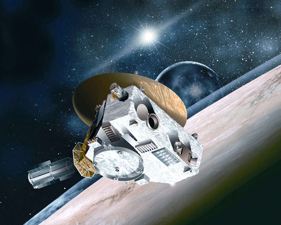 An artist's rendering of the New Horizons spacecraft, which launched in January 2006 and flew by Pluto. Photo: Johns Hopkins University Applied Physics Laboratory /Southwest Research Institute / THE WASHINGTON POST