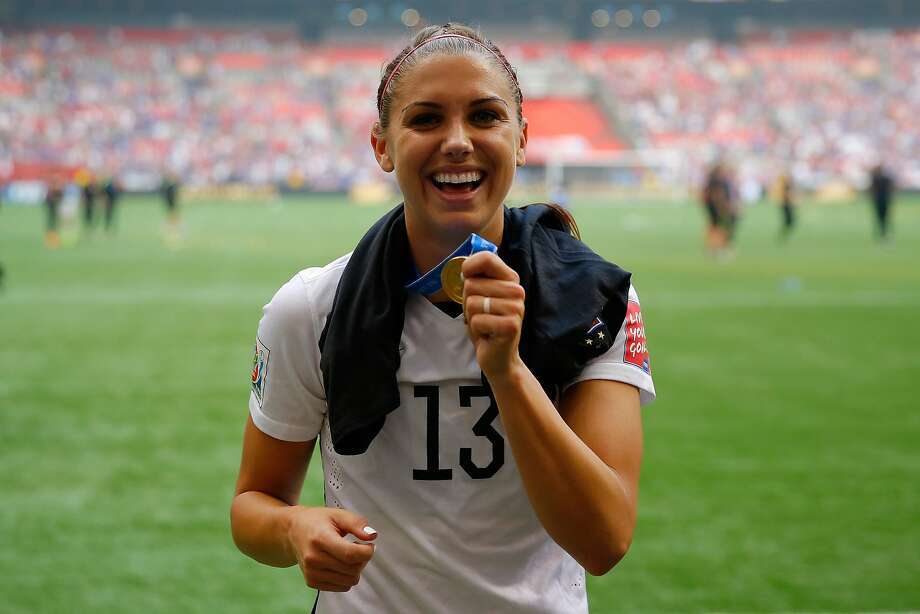 Alex Morgan #13 of the United States celebrates the 5-2 victory against Japan in the FIFA Women's World Cup Canada 2015 Final at BC Place Stadium on July 5, 2015 in Vancouver, Canada.  (Photo by Kevin C. Cox/Getty Images) Photo: Kevin C. Cox, Getty Images
