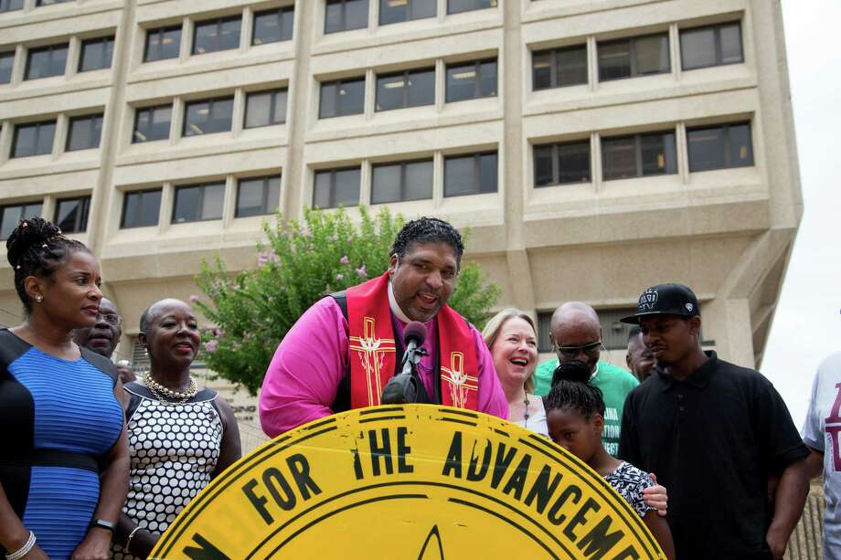 "William Barber II, president of the North Carolina NAACP, said the change in election law ""is our Selma."" His group was one of those that brought the lawsuit. Photo: LOGAN R. CYRUS, STR / NTYNS"