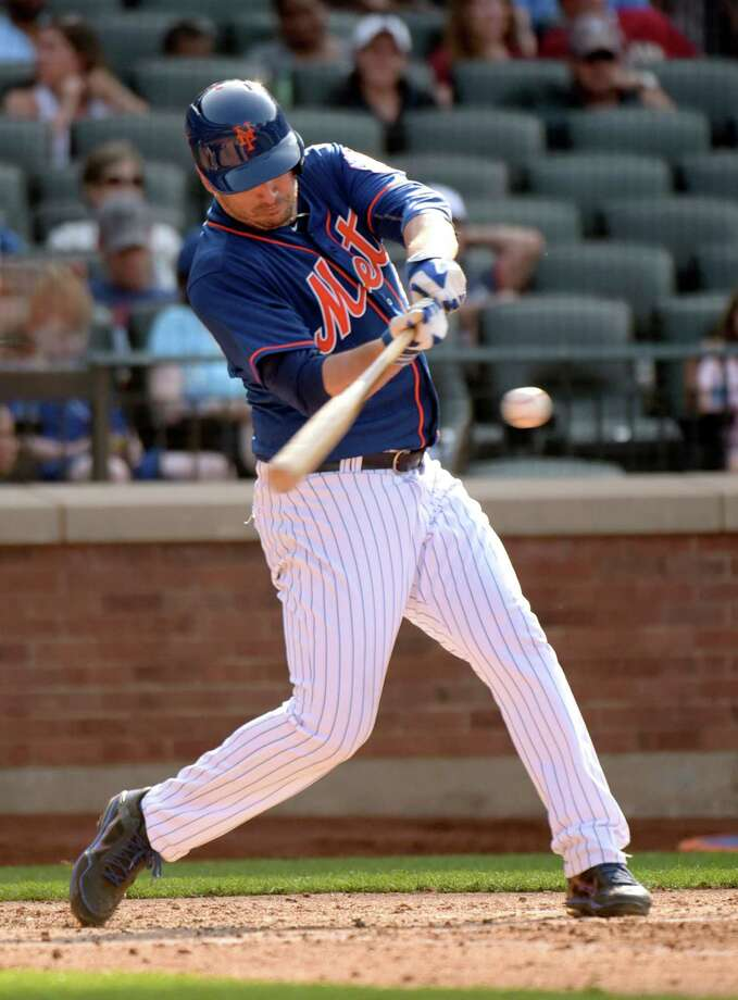 New York Mets' Matt Harvey hits a two-run home run during the fifth inning of a baseball game against the Arizona Diamondbacks Saturday, July 11, 2015,  in New York. (AP Photo/Bill Kostroun) ORG XMIT: NYM109 Photo: Bill Kostroun / FR51951 AP
