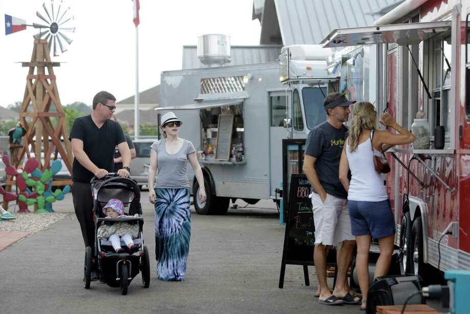Bernie's Backyard is already getting repeat customers. The property's location on I-45 near Old Town Spring is unusual, since food trucks are not often found in the suburbs. Photo: Melissa Phillip, Staff / © 2015  Houston Chronicle