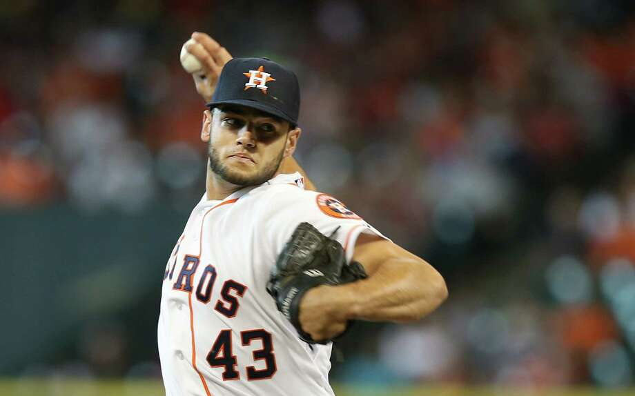 Houston Astros starting pitcher Lance McCullers (43) has no hits up to the 5th inning during the baseball game with the Seattle Mariners at Minute Maid Park on Sunday, June 14, 2015, in Houston. ( Mayra Beltran / Houston Chronicle ) Photo: Mayra Beltran, Staff / © 2015 Houston Chronicle