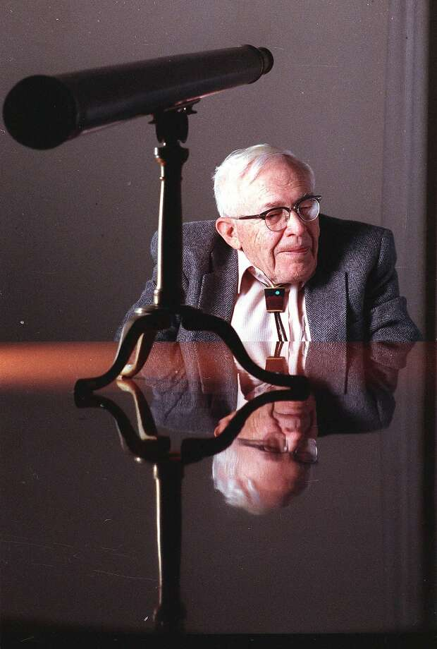 Researcher Clyde Tombaugh, pic tured in New York in 1990, discovered Pluto 85 years ago. He died in 1997. Photo: Will Yurman, Associated Press