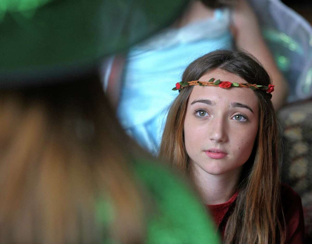 Olivia Cotter, of Danbury, who plays Beauty in Fairy Tale Theater's presentation of