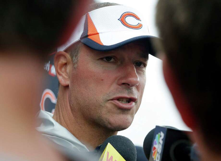 Chicago Bears Chicago Bears offensive coordinator Aaron Kromer talks to reporters after NFL football training camp Wednesday, July 31, 2013, in Bourbonnais, Ill. (AP Photo/Nam Y. Huh) ORG XMIT: ILNH110 Photo: Nam Y. Huh / AP