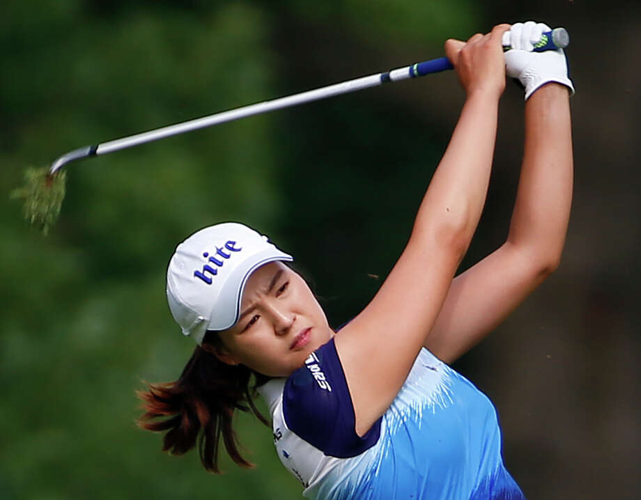 In Gee Chun hits an approach shot off the 13th fairway during the final round of the U.S. Women's Open golf tournament at Lancaster Country Club, Sunday, July 12, 2015 in Lancaster, Pa. (AP Photo/Gene J. Puskar) ORG XMIT: USO182 Photo: Gene J. Puskar / AP