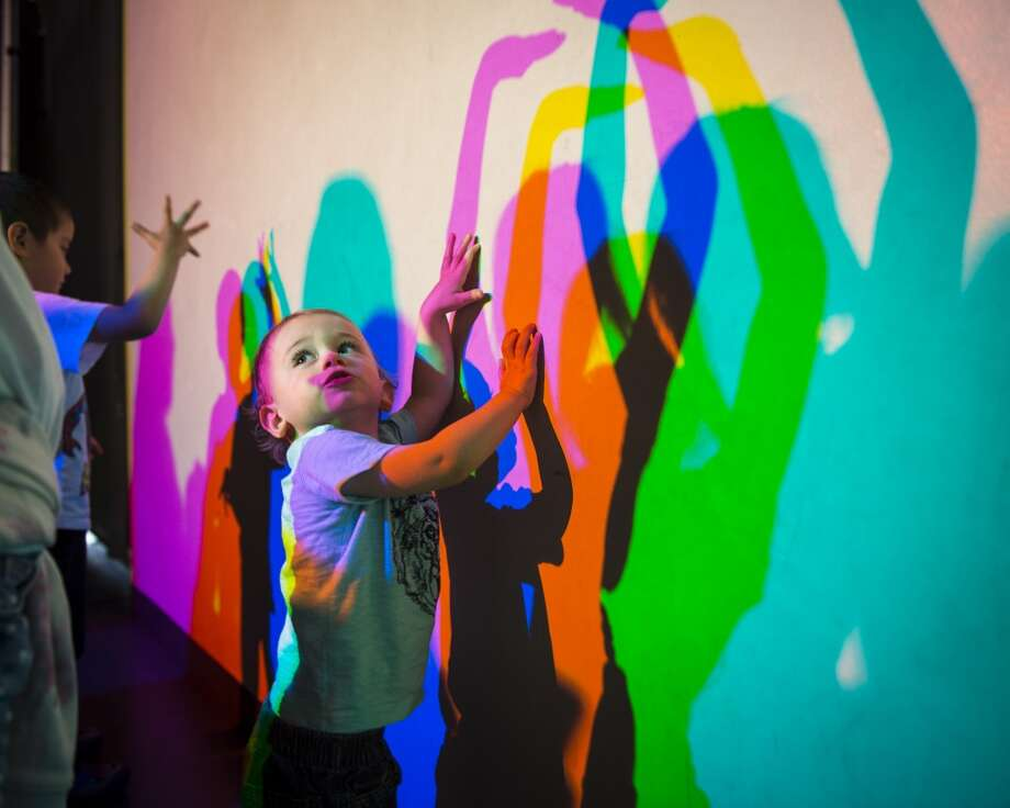 Play with colored shadows at the Exploratorium. Photo: Gayle Laird