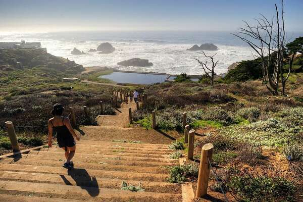 Hike the Lands End Trail, from the Cliff House to the Palace of the Legion of Honor. Don't miss the walk down to the Sutro Baths ruins (pictured) and stop in the Lands End Lookout Visitor Center and Cafe for a bowl of clam chowder.