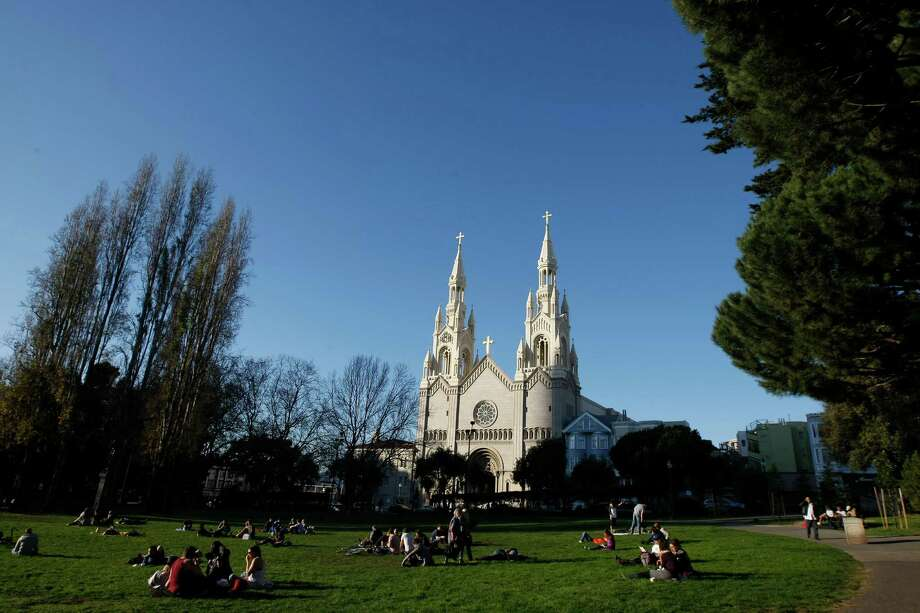 North Beach's Washington Square Park. Photo: Dylan Entelis, The Chronicle / ONLINE_YES