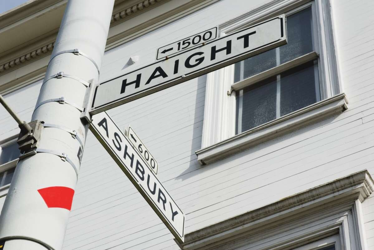 Haight and Ashbury streets, the center of 1967's