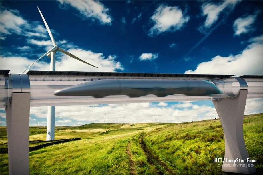 Elon Musk proposed Hyperloop in 2013. His company, SpaceX, is hosting a competition for prototypes. (Above: A concept drawing by Hyperloop Transportation Technologies.) Photo: HTT/JumpStart Fund