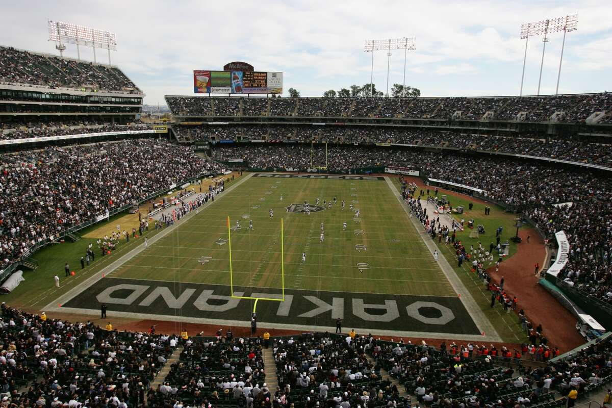 O.co ColiseumTenant: Oakland Raiders Capacity: 53,250 Opened: Sept. 18, 1966 Naming Rights: Overstock.com Cost: $25.5 Million, $200 Million in renovations Public Financing: 100% Private Financing: None