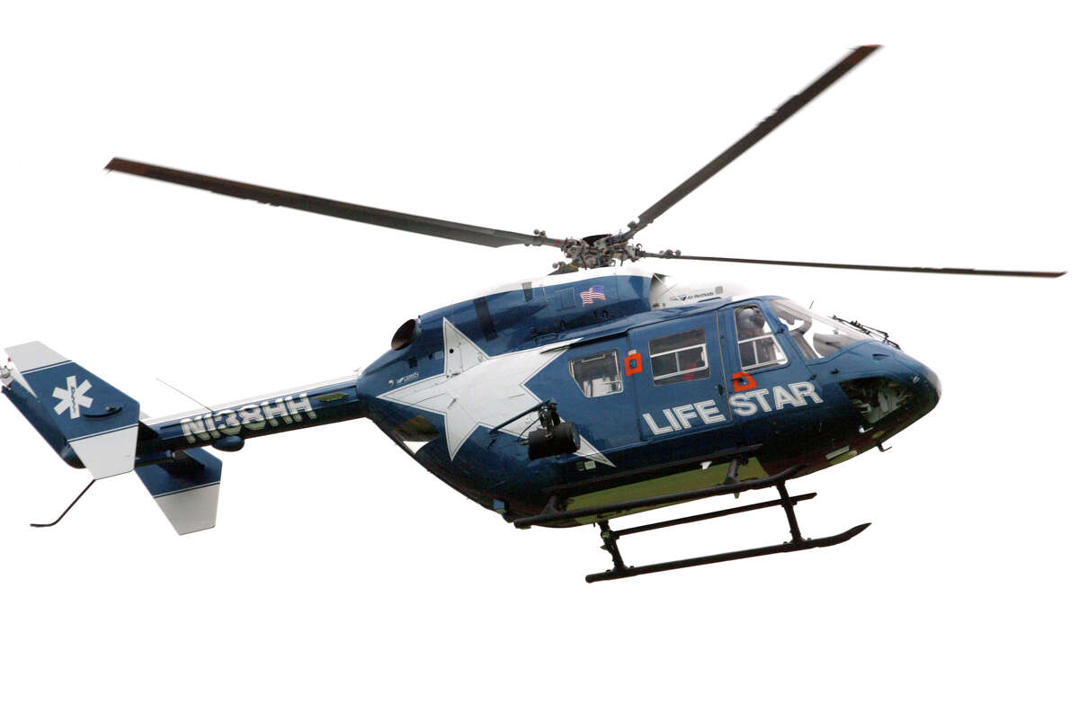 Life Star helicopter transported Bronx, N.Y. man from motorcycle accident in Kent to Danbury Hospital Sunday.