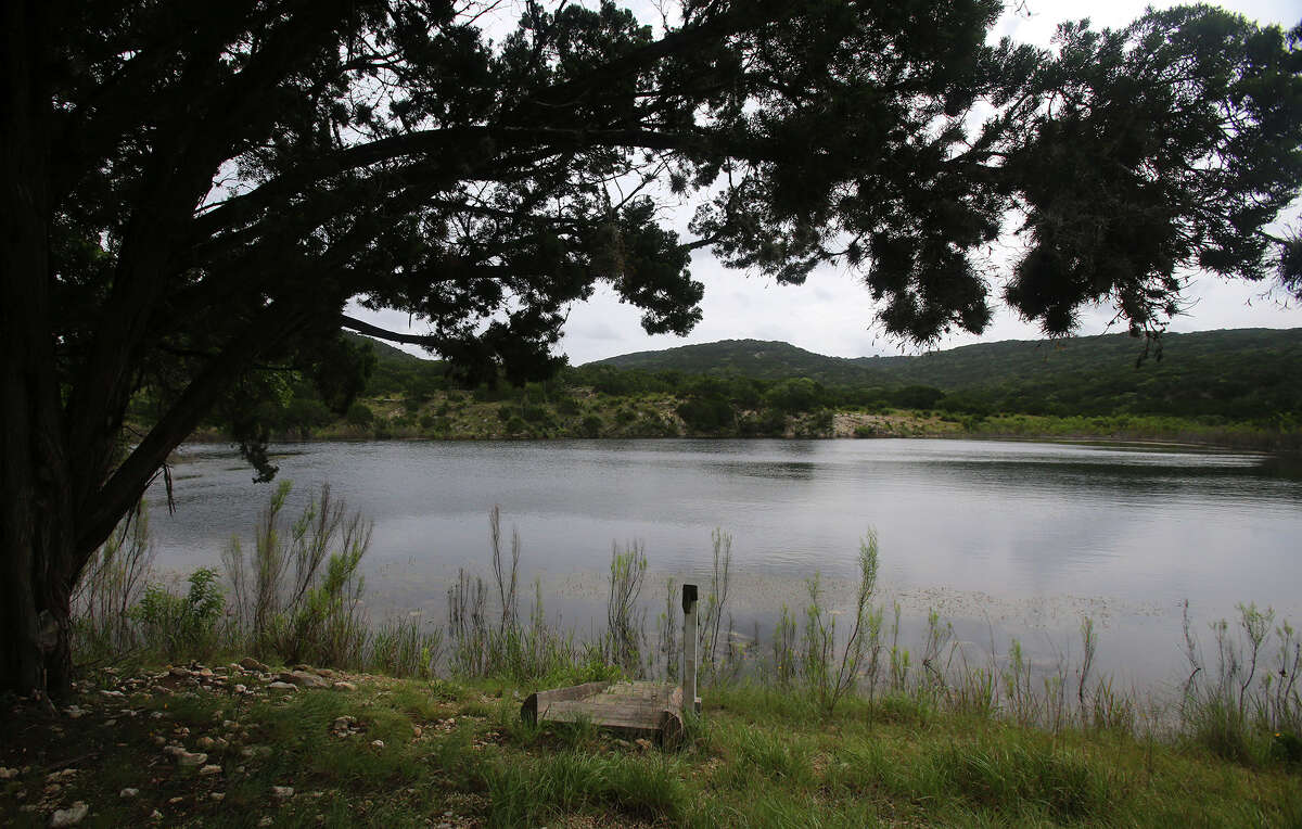 This area is known as Bessie's Pond at the Albert and Bessie Kronkosky State Natural Area. Located about seven miles west of Boerne on Highway 46, the land sprawls over 3,700 acres of Hill Country land and was acqiured by Texas Parks and Wildlife in 2011. Property superintendent James Rice says full public access to the area is a few years away until studies there are completed.