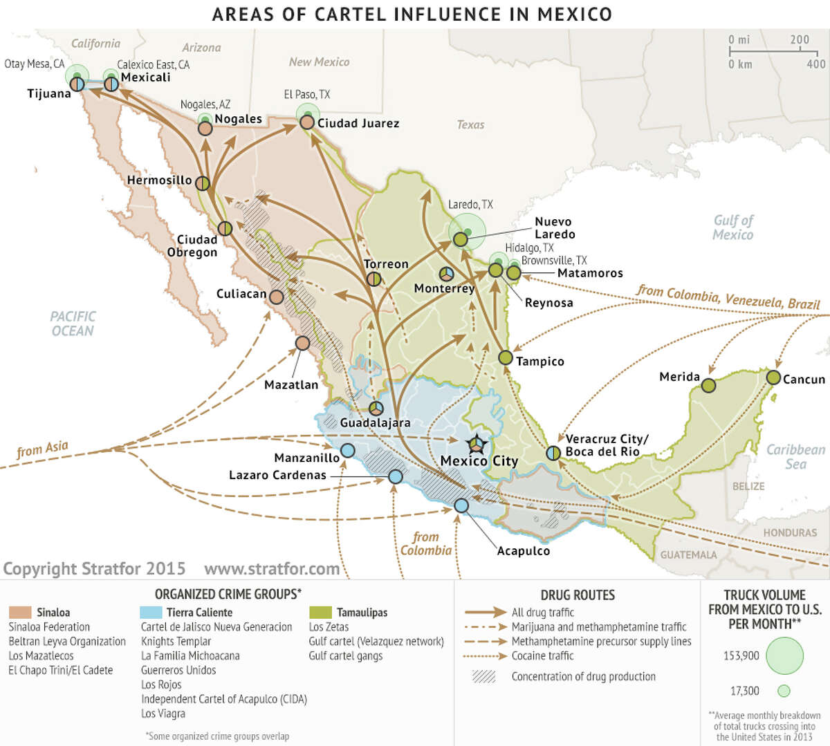 2. Where do they operate?According to a graphic provided by Stratfor Global Intelligence Agency, the cartel occupies the gulf side of Mexico such as Coahuila, Nuevo Leon, Tamaulipas, Vera Cruz, Tabasco, Campeche and the Yucatan.