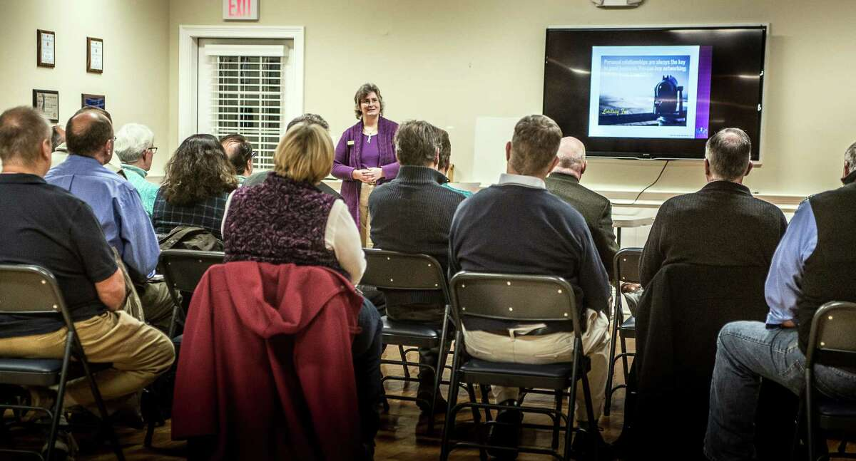Tara Alemany, the founder of Emerald Lake Books, speaks to groups across the country about her work and how books can be used as important marketing tools. Don Hicks / North Sky Photography