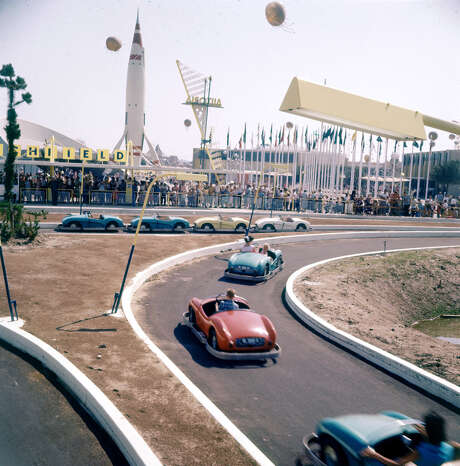 Guests try out Autopia in Tomorrowland. Photo: Loomis Dean, Getty Images / Time & Life Pictures