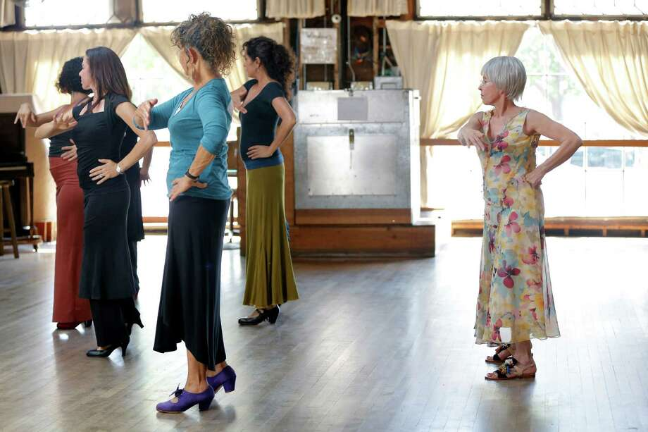 It takes serious acting chops for Rita Moreno (right) to play a klutzy dancer in a scene filmed at Ashkenaz. Photo: Connor Radnovich / Photos By Connor Radnovich / The Chronicle / ONLINE_YES