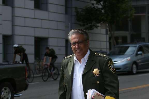 Sheriff Ross Mirkarimi crosses McAllister Street  on Friday, July 10, 2015 in San Francisco, Calif.