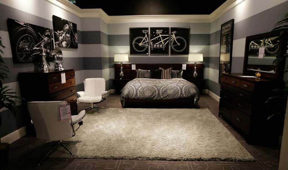 A bedroom display at the new Gallery Furniture store on Grand Parkway Wednesday, July 1, 2015, in Richmond.  ( James Nielsen / Houston Chronicle ) Photo: James Nielsen, Staff / © 2015  Houston Chronicle