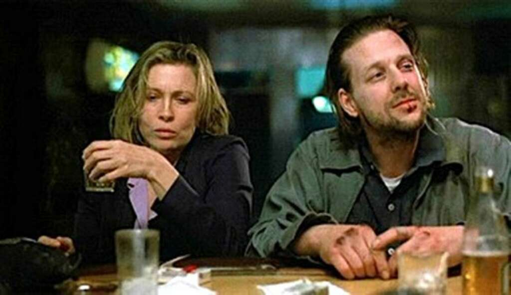 """Faye Dunaway and Mickey Rourke star in Cannon Films' """"Barfly,"""" written by"""