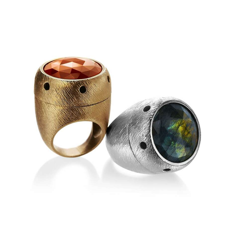 Siren rings conceal miniature technology that, when activated, emits a loud alarm. Photo: Siren