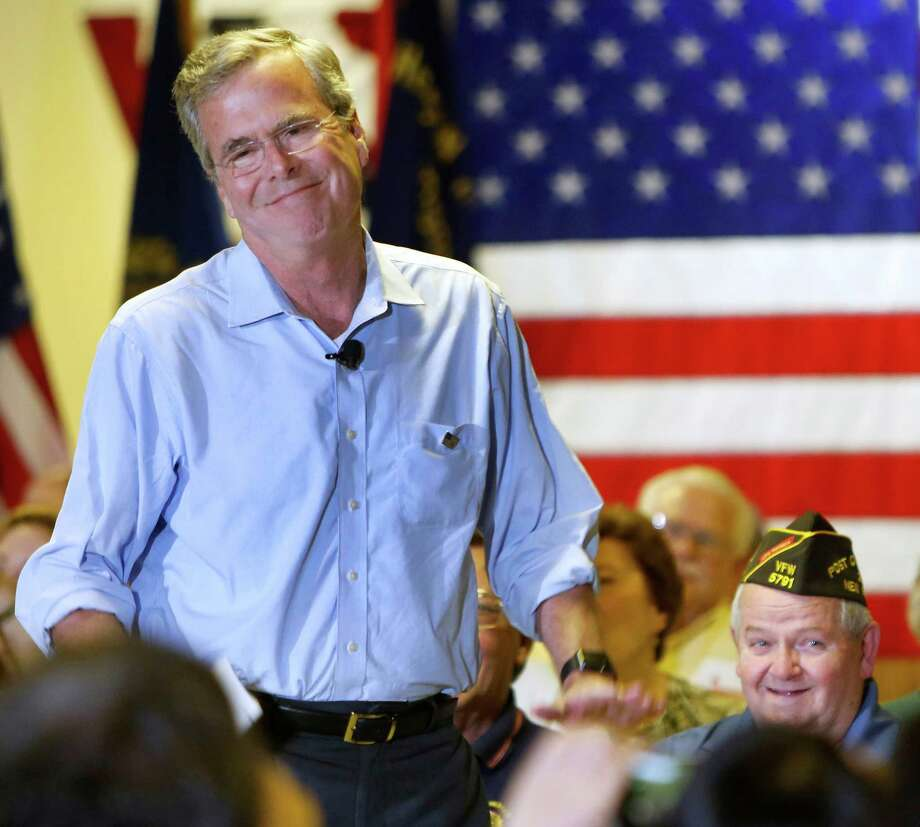 Republican presidential candidate former Florida Gov. Jeb Bush speaks at a town hall meeting Wednesday, July 8, 2015, in Hudson, N.H. (AP Photo/Jim Cole) Photo: Jim Cole, STF / AP