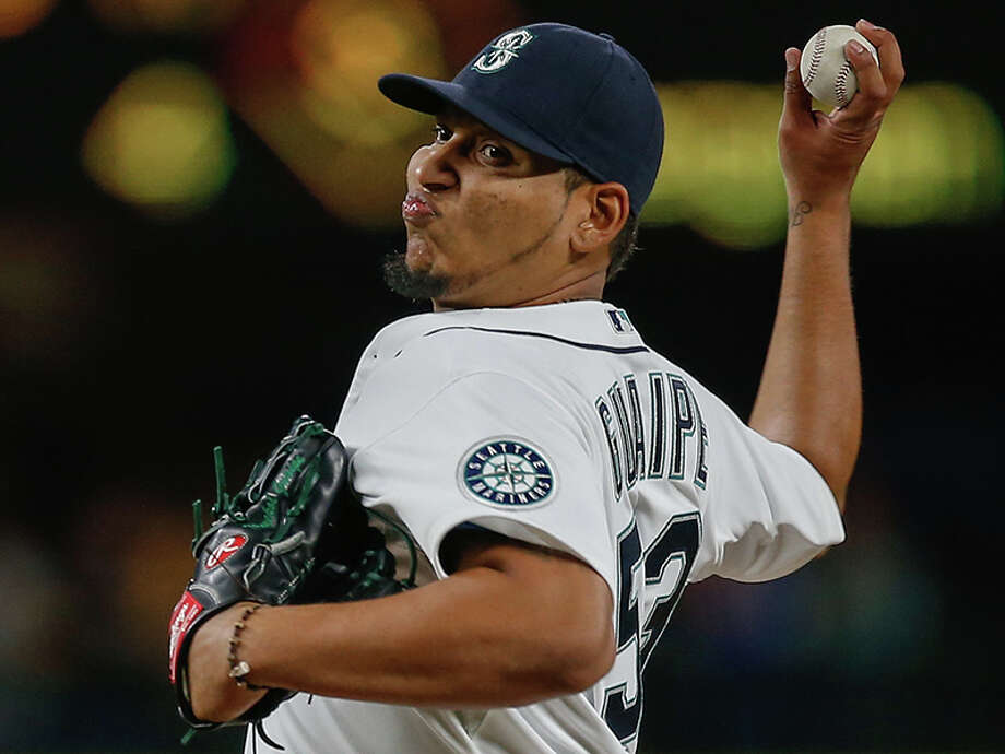 20. Mayckol Guaipe Age: 24 | Relief pitcher | Tacoma Rainiers (AAA) 2015 stats: Triple-A: 27 games, 0-4 record, 30.2 innings pitched, 4.11 ERA, 36  hits, 25 strikeouts, 7 walks MLB: 3 games, 0-2 record, 4.1 innings pitched, 8.31 ERA, 5 hits, 2  strikeouts, 1 walk Notes: The 24-year old is the only player on the list with major lague experience after making three appearances in two sints with the M's in June and July. He was optioned back to Tacoma on Thursday. Photo: Otto Greule Jr, Getty Images / 2015 Getty Images